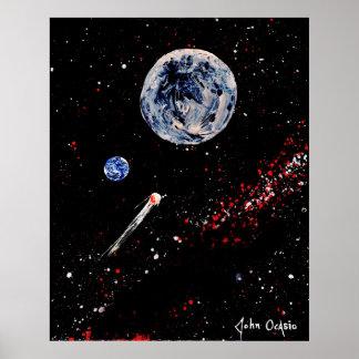 ¡DIANA! (grande) (~ del arte del espacio exterior) Póster
