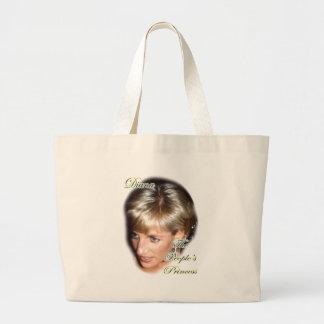 Diana la princesa de la gente bolsa tela grande