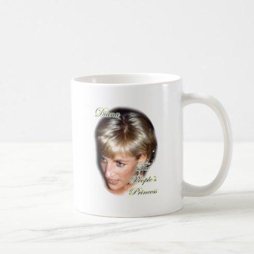 Diana la princesa de la gente taza básica blanca