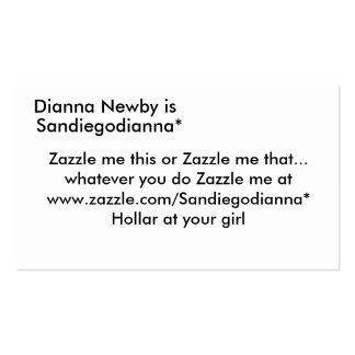 Diana Newby es, Sandiegodianna*, Zazzle yo thi… Tarjetas De Visita