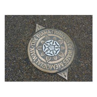 Diana, Princesa de Gales, marcador conmemorativo d Tarjeta Postal