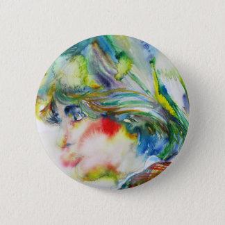 diana,princess of wales - watercolor portrait.1 button