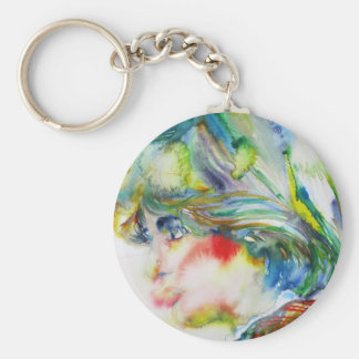 diana,princess of wales - watercolor portrait.1 keychain