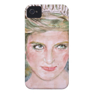 diana,princess of wales - watercolor portrait.2 iPhone 4 cover