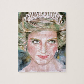 diana,princess of wales - watercolor portrait.2 jigsaw puzzle