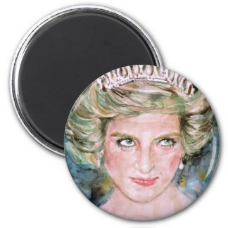 diana,princess of wales - watercolor portrait.2 magnet