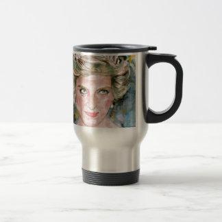 diana,princess of wales - watercolor portrait.2 travel mug