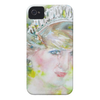 diana,princess of wales - watercolor portrait.3 iPhone 4 case
