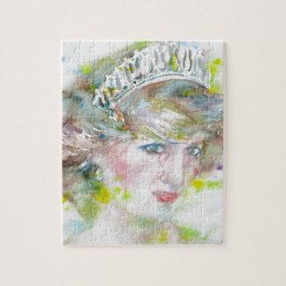 diana,princess of wales - watercolor portrait.3 jigsaw puzzle