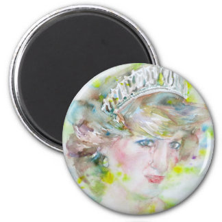 diana,princess of wales - watercolor portrait.3 magnet