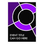 diana púrpura invitación 8,9 x 12,7 cm