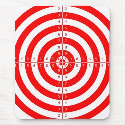 Diana roja de la blanco del tiro al arco del kitsc alfombrilla de ratón