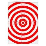 Diana roja de la blanco del tiro al arco del kitsc tarjetas