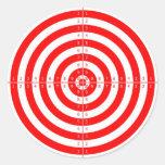 Diana roja de la blanco del tiro al arco del etiqueta redonda
