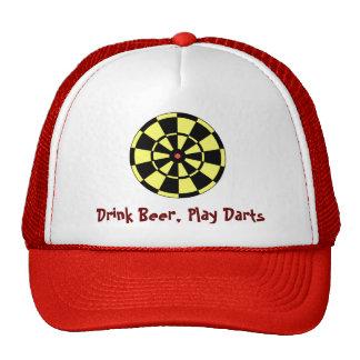 Diana roja del Dartboard - dardos del juego de la  Gorro
