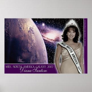 Diana Santoro, Mrs. North America Galaxy 2002-4 Poster