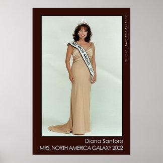 Diana Santoro, Mrs. North America Galaxy 2002 Poster