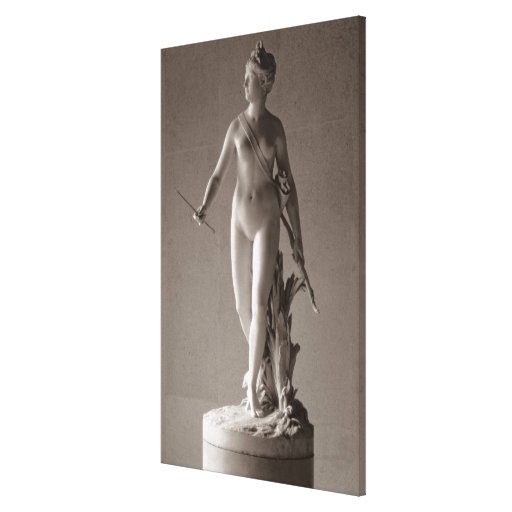 Diana the Huntress, 1780 (marble) Stretched Canvas Print