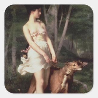 Diana the Huntress Square Sticker