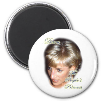 Diana the peoples princess 2 inch round magnet