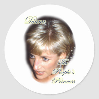 Diana the peoples princess classic round sticker