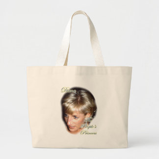 Diana the peoples princess large tote bag