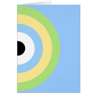 Diana verde de la combinación tarjeta de felicitación