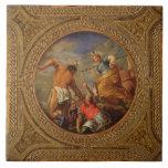 Diana y Actaeon, del techo de la biblioteca Azulejos
