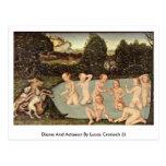 Diana y Actaeon por Lucas Cranach (i) Postal
