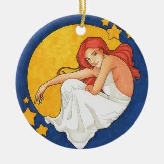 Diana y el ornamento de la luna ornato