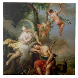 Diana y Endymion Azulejo Cuadrado Grande