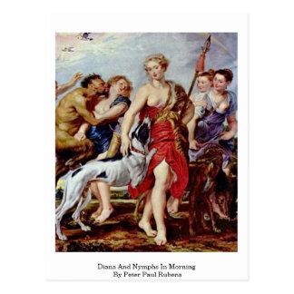 Diana y ninfas por mañana de Peter Paul Rubens Tarjetas Postales