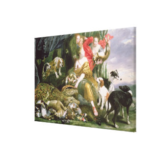 Diana y sus handmaidens después de la caza impresiones en lona estiradas