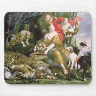 Diana y sus handmaidens después de la caza tapetes de raton