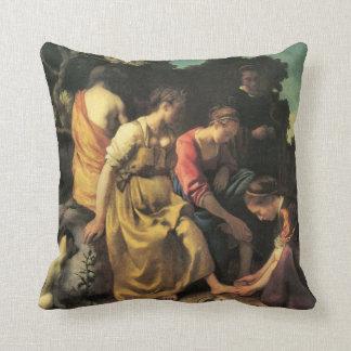 Diana y sus ninfas de Juan Vermeer Cojines