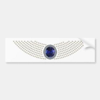 Diana's Sapphire Choker Necklace Bumper Sticker
