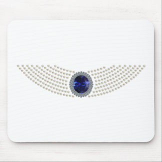 Diana's Sapphire Choker Necklace Mouse Pad