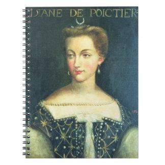 Diane de Poitiers (aceite en lona) Cuaderno