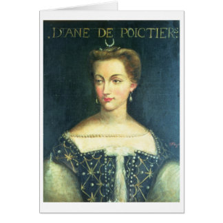 Diane de Poitiers (aceite en lona) Tarjeta De Felicitación