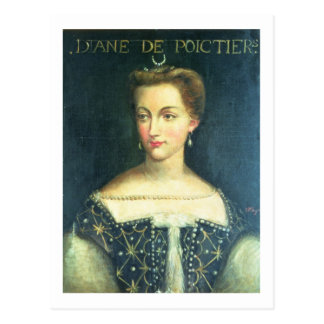 Diane de Poitiers (oil on canvas) Postcard