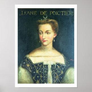 Diane de Poitiers (oil on canvas) Poster