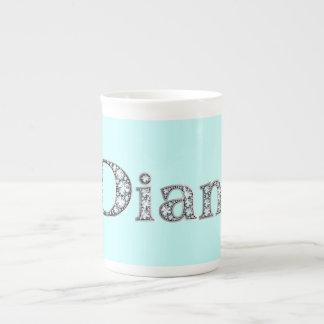 "Diane ""Diamond Bling"" Bone China Mug"