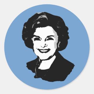 Diane Feinstein Etiqueta Redonda
