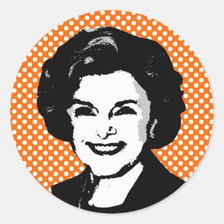 Diane Feinstein Pegatinas Redondas