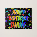 "[ Thumbnail: ""Diane"" First Name, Fun ""Happy Birthday"" Jigsaw Puzzle ]"