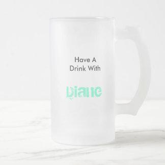 Diane Frosted Glass Beer Mug