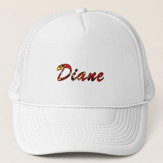 Diane white mesh cap