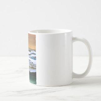 Diane's Ocean Sea Waves Art Gold and Blue Coffee Mug