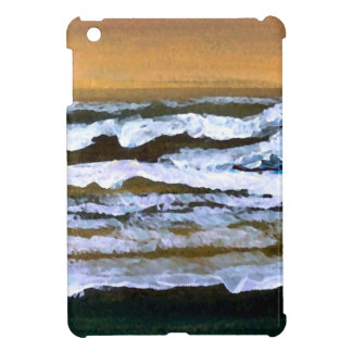 Diane's Ocean Sea Waves Art Gold and Blue iPad Mini Cases