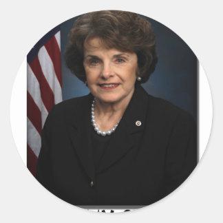 ¡Dianne Feinstein, de que es mi senador! Pegatinas Redondas